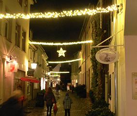 Weihnachtsbeleuchtung Zum Stecken.Werden Ist Weihnachtlich Erleuchtet